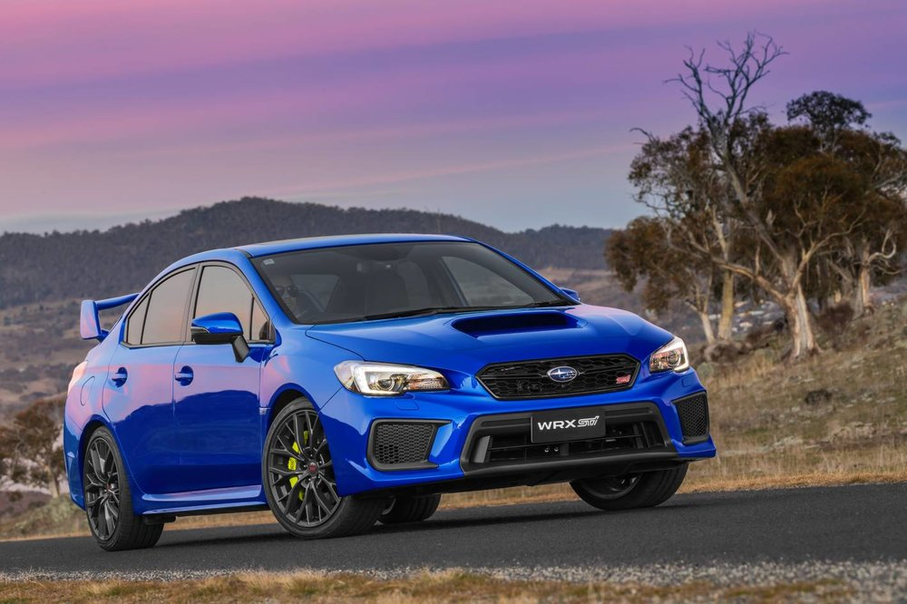 Trainspotter's guide to looking for the 2018 STI: Just look for the hi-viz brake calipers...