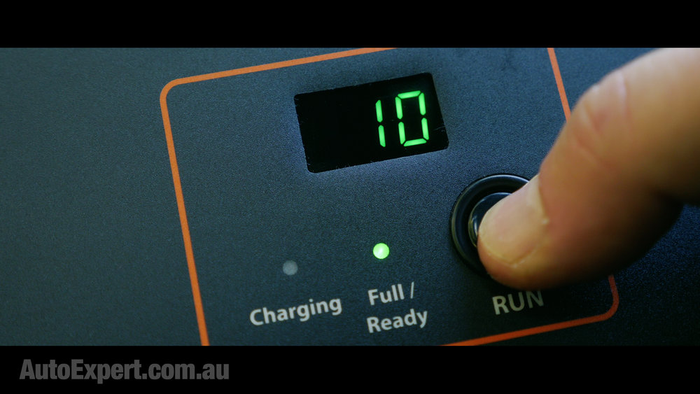 3. Press 'run' and the unit counts down from 10