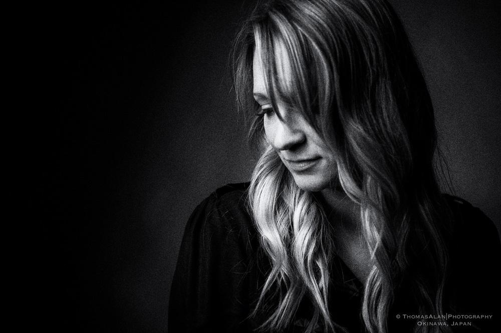 Black and White One Light Portrait Portrait of Kelli 2013.
