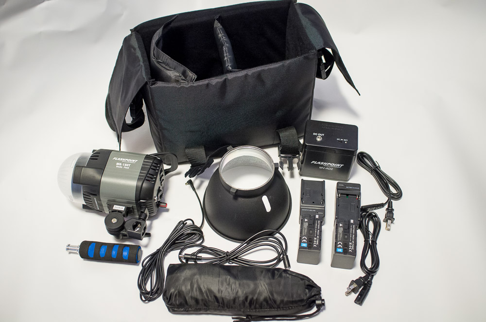 Flashpoint 180 Monolight Kit from Adorama.