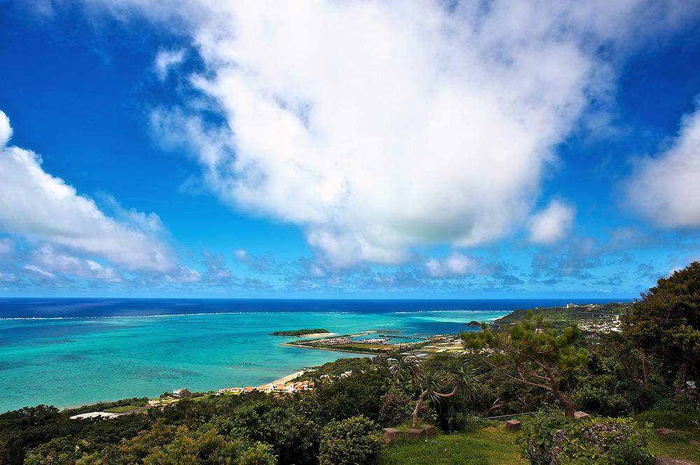 East coastline of Okinawa, Japan near Chinen.