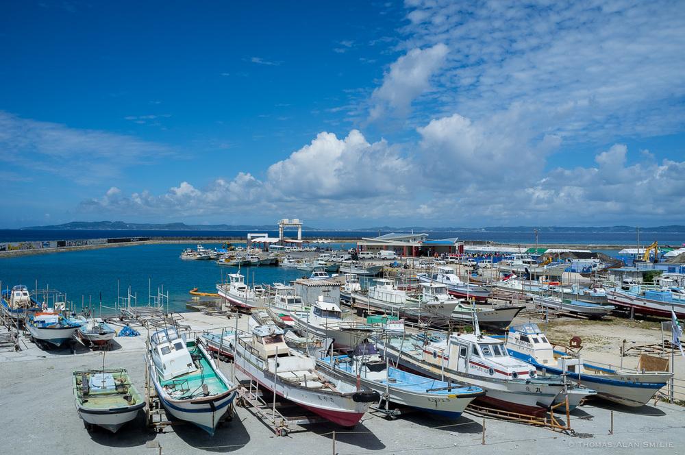 Tsuken Island Port. Fuji x100.
