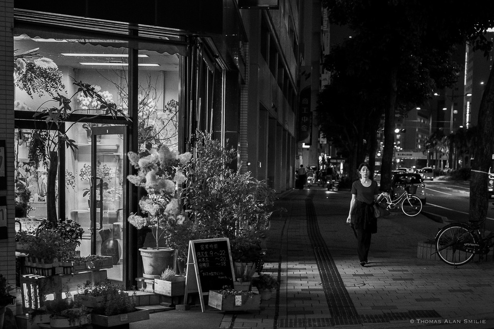 Local flower shop in Naha just before closing. - Fuji X-Pro1, 35mm f1.4