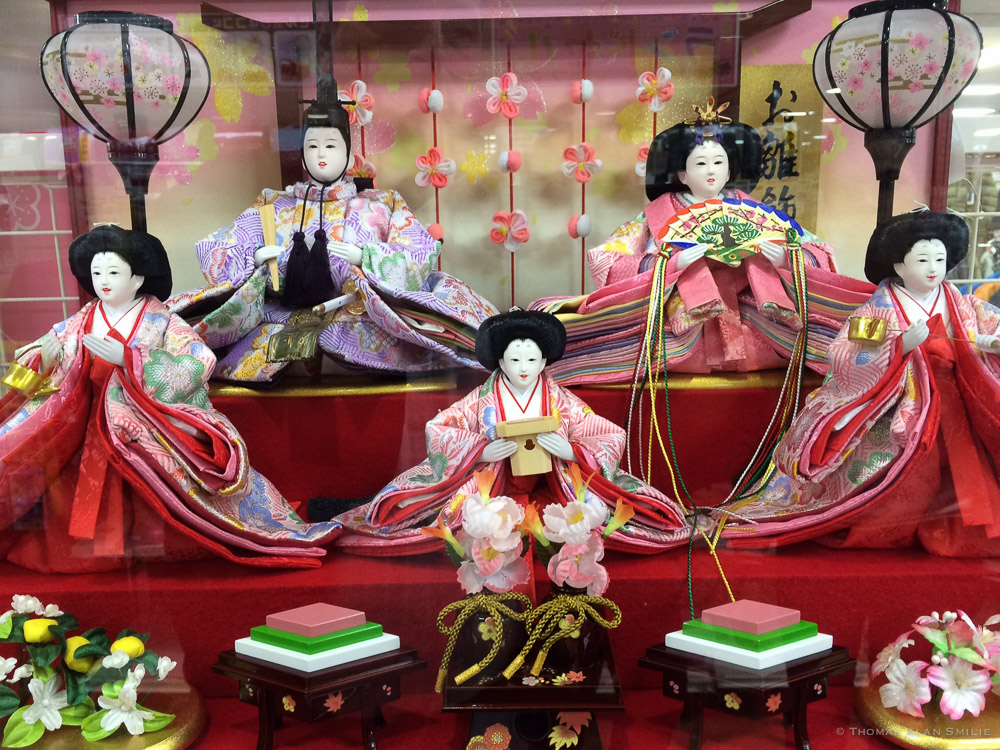 Hina Ningjo, Dolls displayed on Hina Matsuri, Girls' Day in Japan.