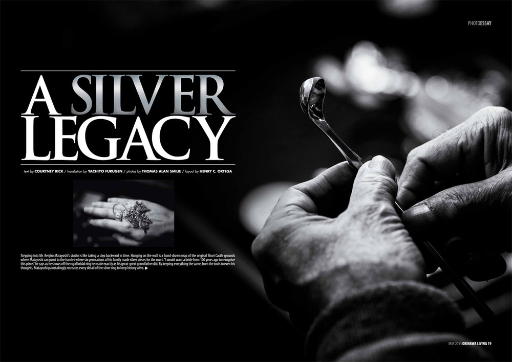 Okinawa Living magazine feature, A Silver Legacy.