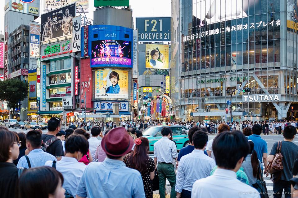 Streets of Tokyo. Shibuya crossing.Fuji x100s