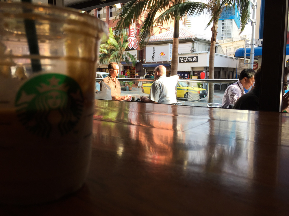 Starbucks in Naha, Okinawa, Japan. Apple iPhone 6 Plus at f2.2, 1/280 sec.
