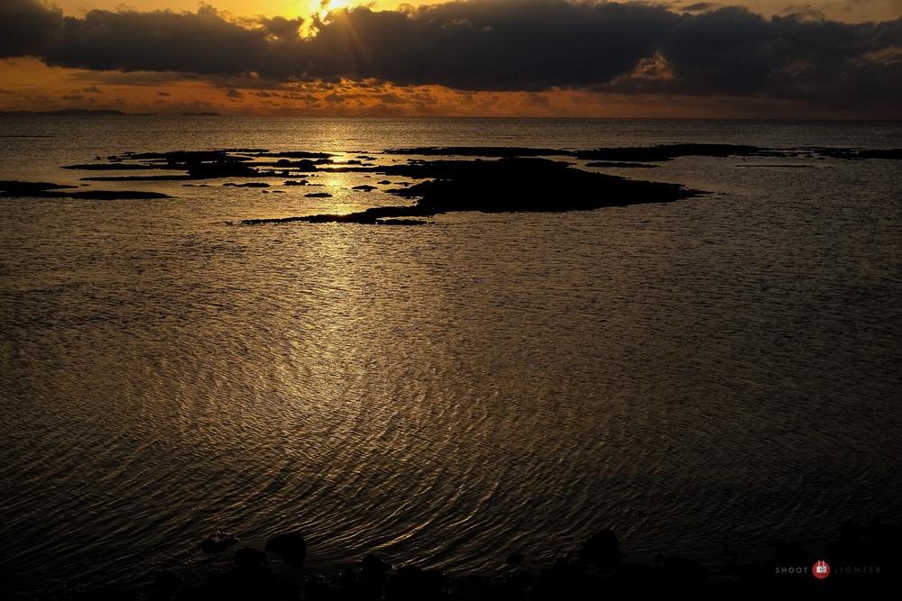 Sunset in Chatan, Okinawa. Fuji x100s w/ TCLx100 Teleconverter- ISO400, f/8, 1/2000 sec. Edited in Lightroom.
