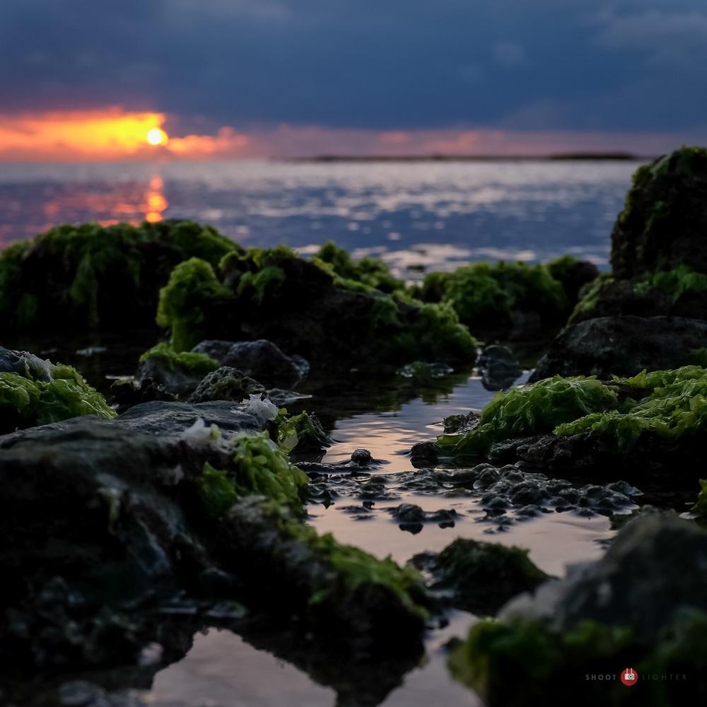 Sunset in Chatan, Okinawa. Fuji x100s w/ TCLx100 Teleconverter - ISO200, f/5.6, 1/200 sec. Edited in Lightroom.
