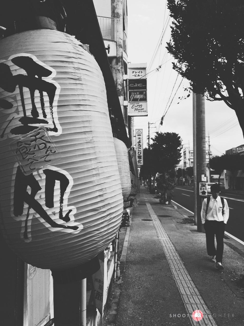 Okinawa City, Okinawa. Fuji X-Pro1, 18-55mm f/2.8-4. Edited in VSCO Cam and Lightroom Mobile on my iPad Air.