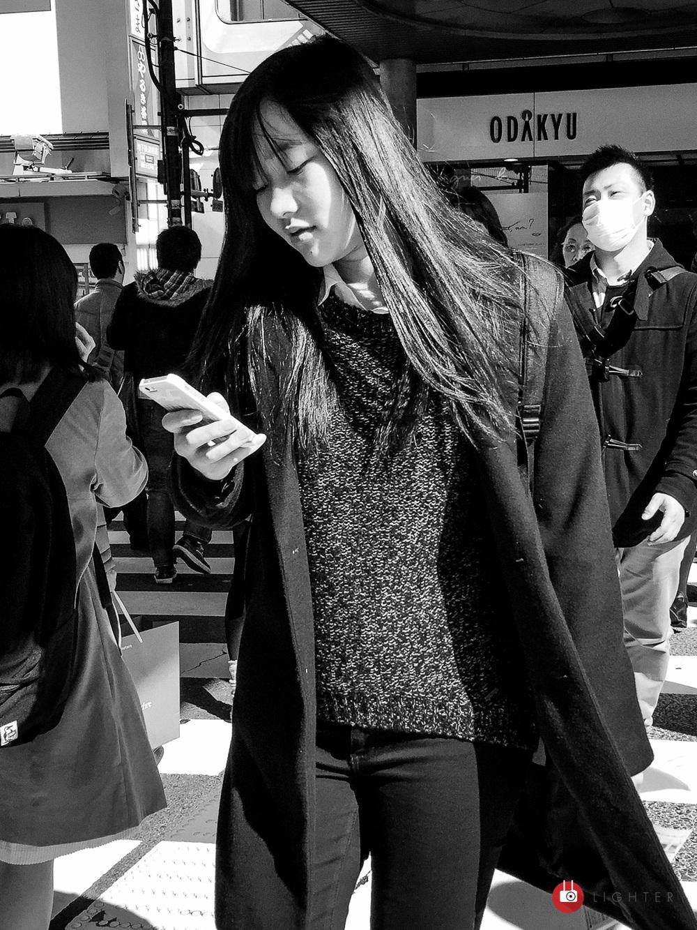 Shinjuku, Tokyo - iPhone 6 Plus, ISO 32, f/2.2, 1/1150 sec. Edited in Lightroom Mobile.