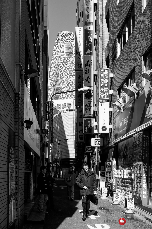 Shinjuku, Tokyo - Fuji x100s  , ISO 320, f/8, 1/500 sec. Edited in Lightroom Mobile.