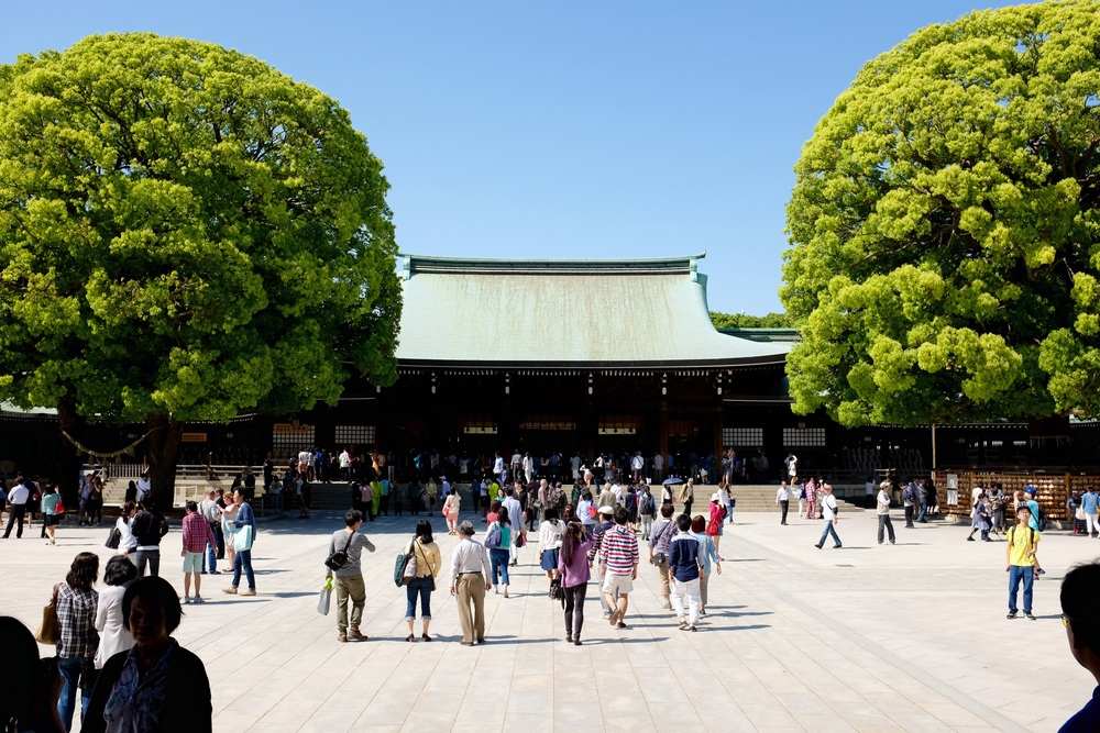 Meiji Shrine, Tokyo. Fujifilm x100t, ISO 400, f/8, 1/600 sec. ND filter on. Cropped and added some contrast.
