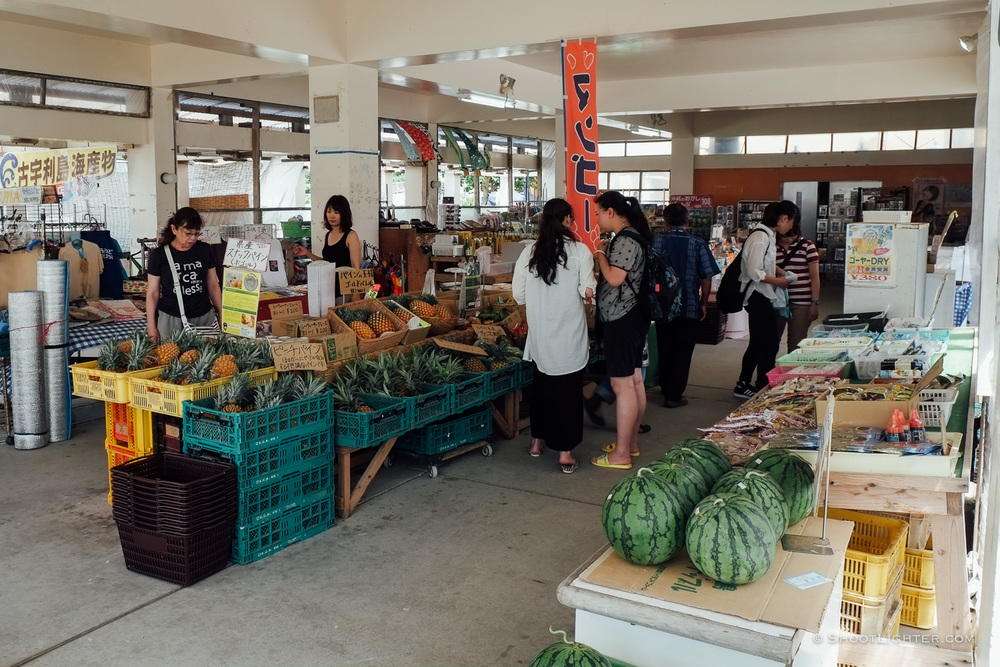 Vegetable market at Kouri Island, Okinawa, Japan. - Fuji X-Pro1, 18-55mm f2.8 lens.