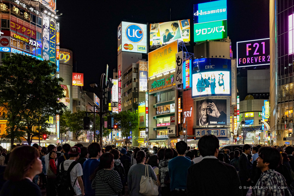 Shibuya Crossing, Tokyo, Japan. Fuji x100s.