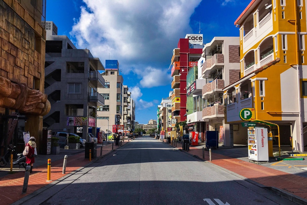 Omoromachi, Naha, Okinawa, Japan. Taken with my iPhone 6s Plus using the camera app  Pure Shot .