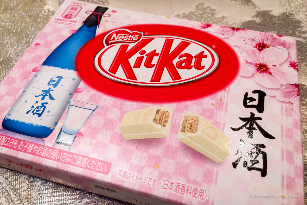 Sake Flavor KitKat. Taken with an iPhone 6s Plus.