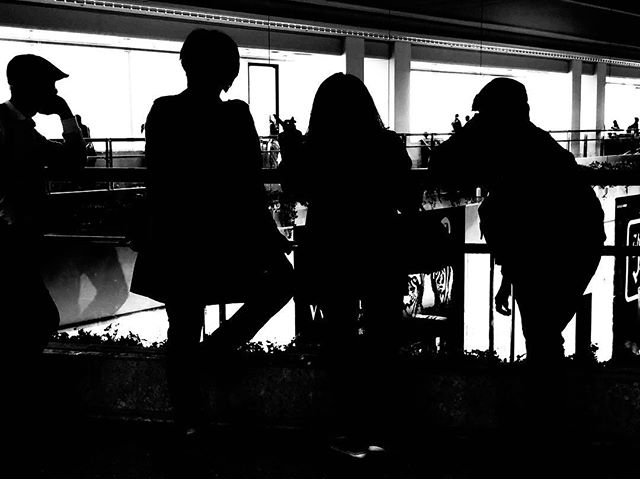 Airport silhouettes #naha #airportlife #okinawa #japan #shotoniphone #iphonex #silhouette #instablackandwhite