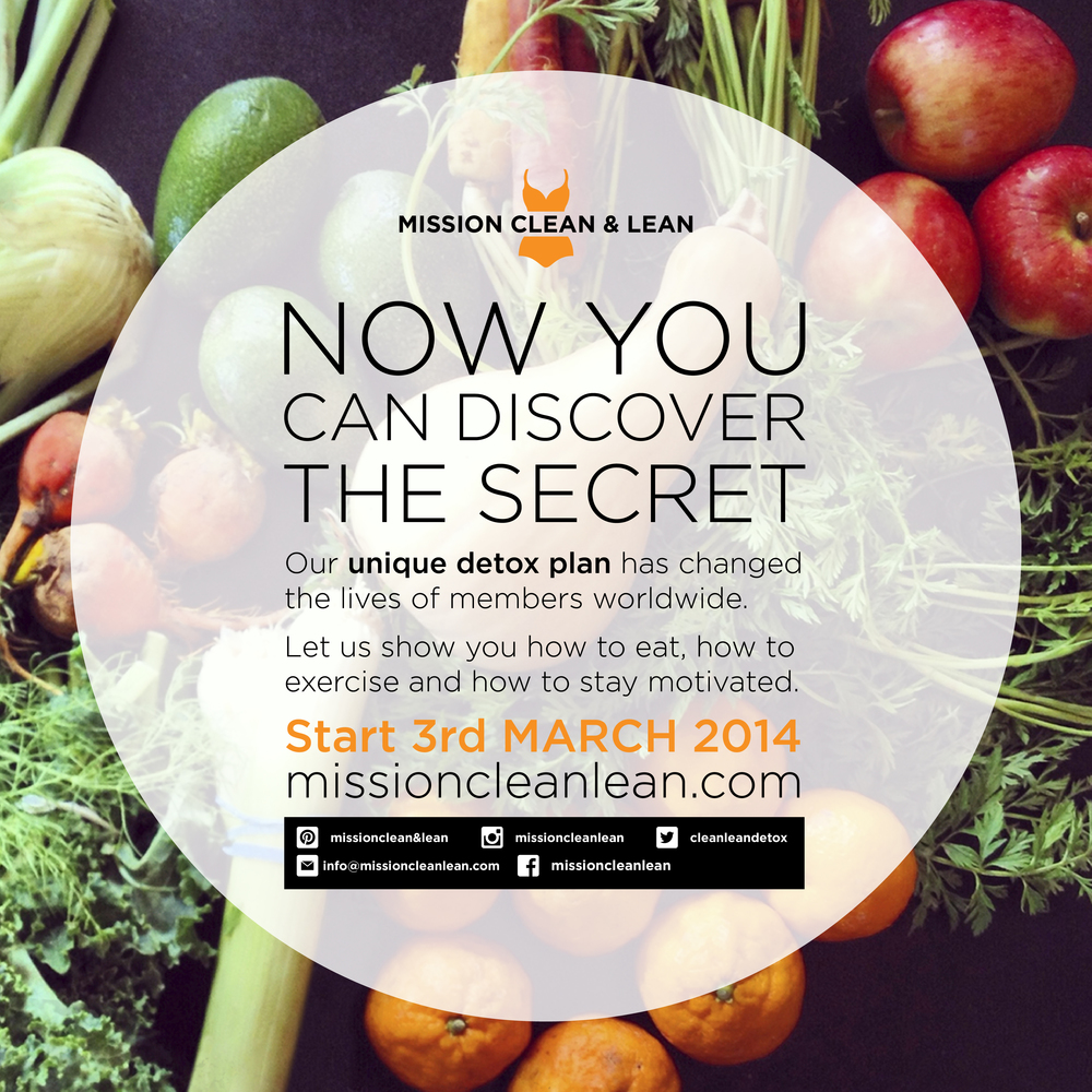 You can book NOW via our website www.missioncleanlean.com