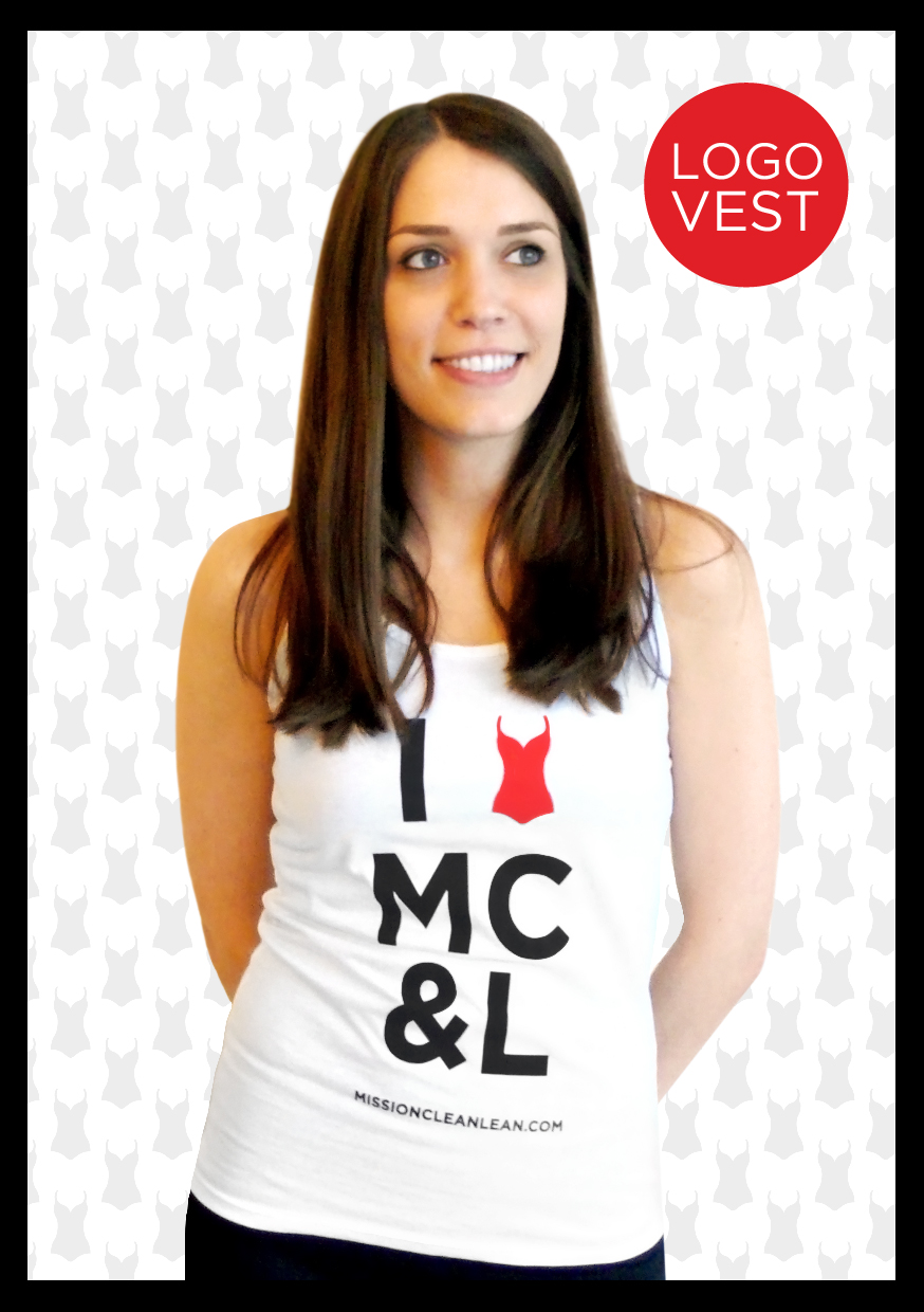 Made from 100% pure cotton in soft touch jersey fabric this fashionable vest is brilliant for updating your gym kit or team with jeans for effortless weekend style. Made from 100% cotton and washable at 40C. This is essential wear for anyone who has completed their very own MC&L mission!   Available in size S, M or L (10, 12 or 14)  £15.00 plus £3.00 p&p