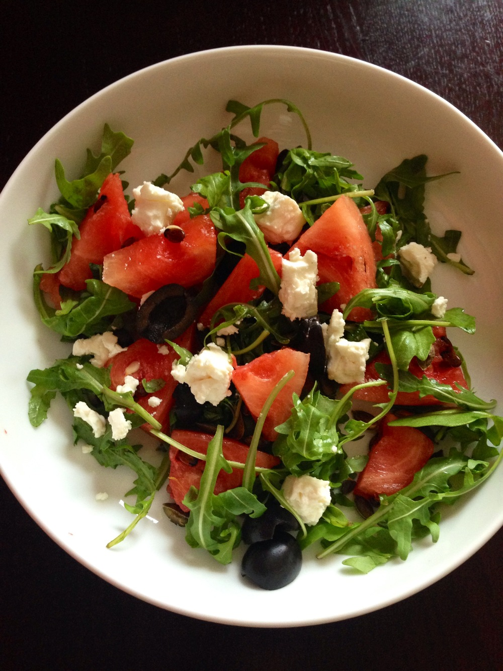 Watermelon feta summer salad canap s mission clean for Summer canape ideas