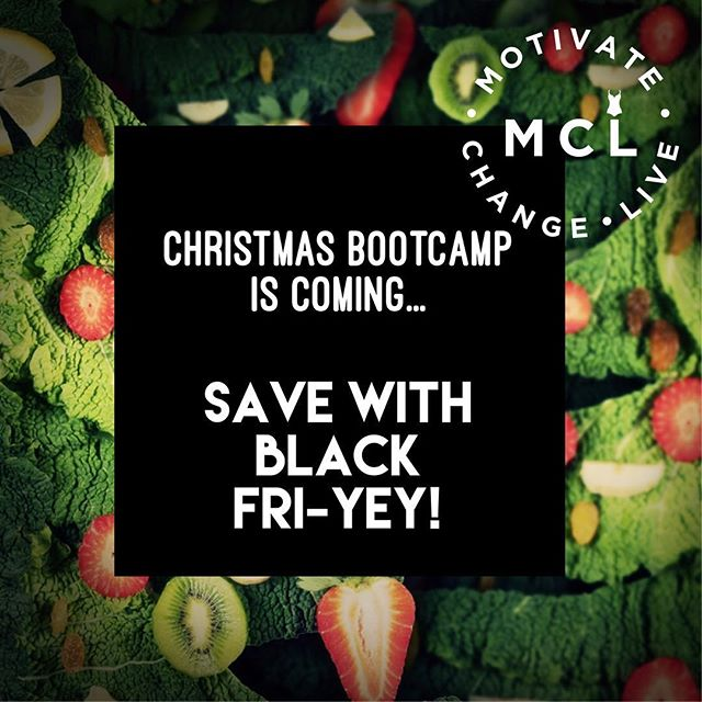 Take a break from your Black Friday shopping frenzy and listen up! While Santa's elves have been busy in the north pole, we've been busy working on our CHRISTMAS BOOTCAMP - a BRAND NEW super-effective plan designed for super BUSY PEOPLE!  Don't believe you have time to exercise? MCL will show you how to MAKE TIME for YOU at this most wonderful (*hectic) time of year! Snappy workouts to fit into busy days and festive healthy eating on the go!  Choose to start Monday 3rd or 10th December - it's just £30 for 5 DAYS and RESULTS IN TIME FOR CHRISTMAS! *** BOOK BY MIDNIGHT SUNDAY 25th NOVEMBER to save 20%*** Head over to: http://motivatechangelive.com/sign-up/christmas-bootcamp  #bootcamp #detox #eatwell #healthylifestyle #blackfriday2018 #fitnessmotivation #mumlifebalance