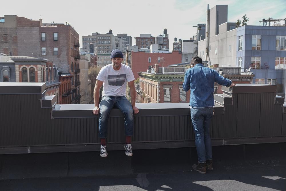 Rooftop hijinx.