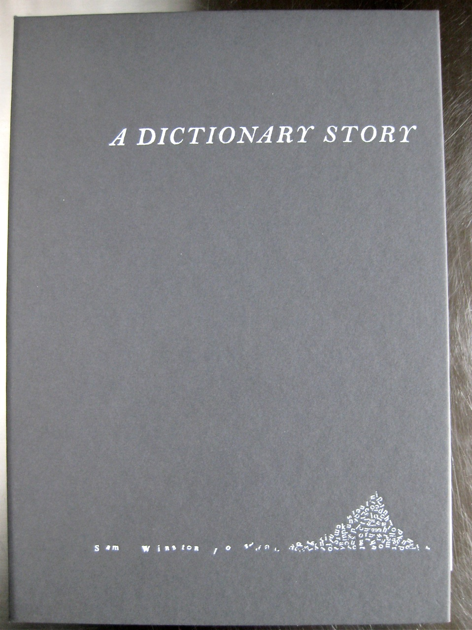 A Dictionary Story by Sam Winston