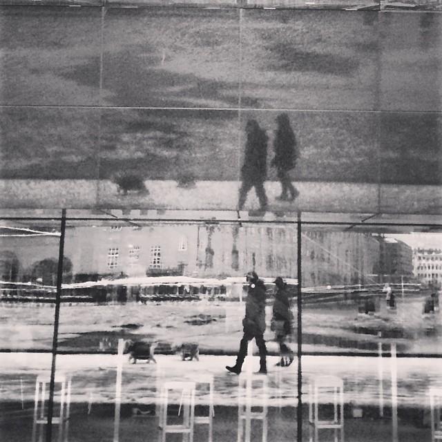 Doubling up at the #blackdiamond #copenhagen #reflection #blackandwhite #insta_bwgramers