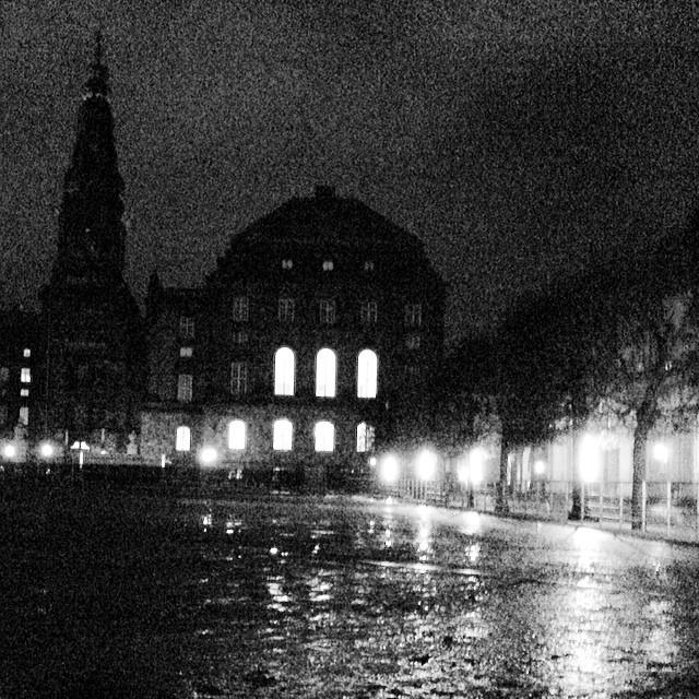 #christiansborg horse ground looks pretty soggy after the snowmelt - #copenhagen #blackandwhite #insta_bwgramers