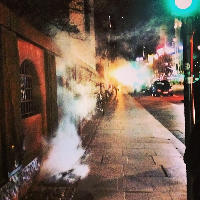Not quite Taxi Driver but all these #steam vents in #copenhagen make me think of NY (but only a little bit)