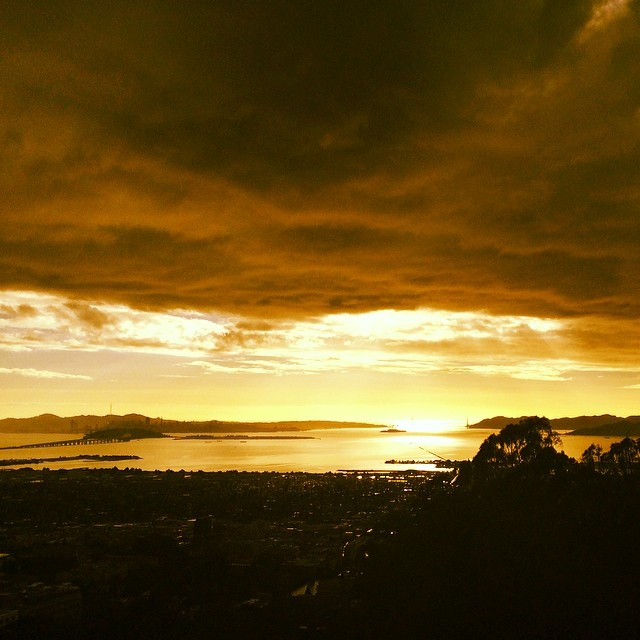 #golden #light over #sanfrancisco bay - #goldengate #city #vista