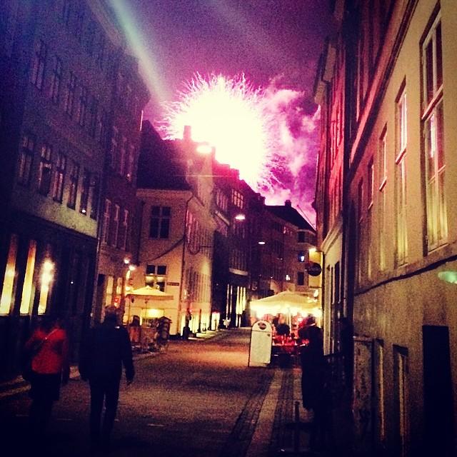 #tivoli opening #fireworks light up #kompagnistræde #copenhagen