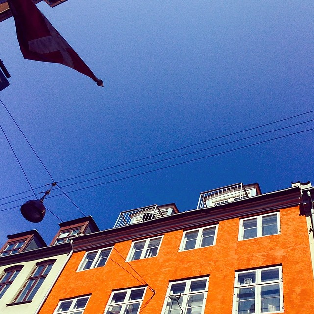 Beautiful #Easter in #copenhagen - #blueskies and #opensandwiches for #lunch at #københavnercafeen