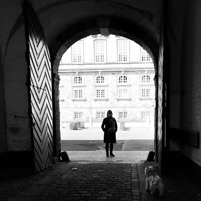 #silhouette in the #gateway #copenhagen with added #westie sneaking into the pic
