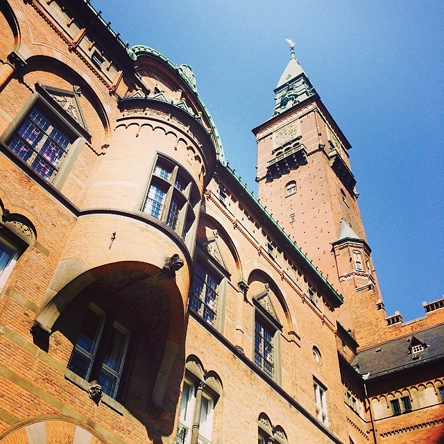 #rådhuset #copenhagen from the #courtyard #hiddencourtyards