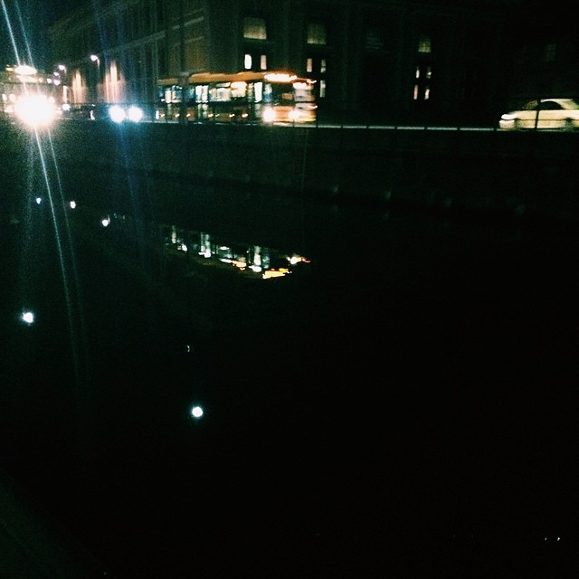 #vscocam #bus passing #torvaldsensmuseum #copenhagen - #canal #reflections