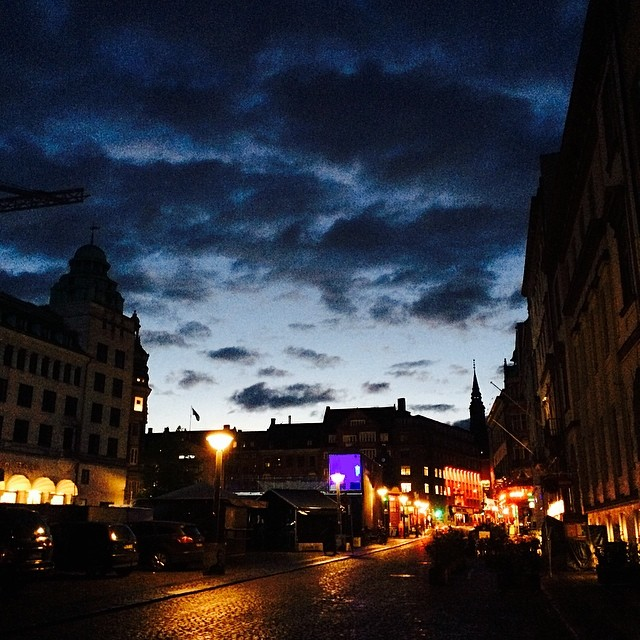 Dramatic #skies over #eurovision #nytorv #copenhagen #nofilter - #joinus in the rain