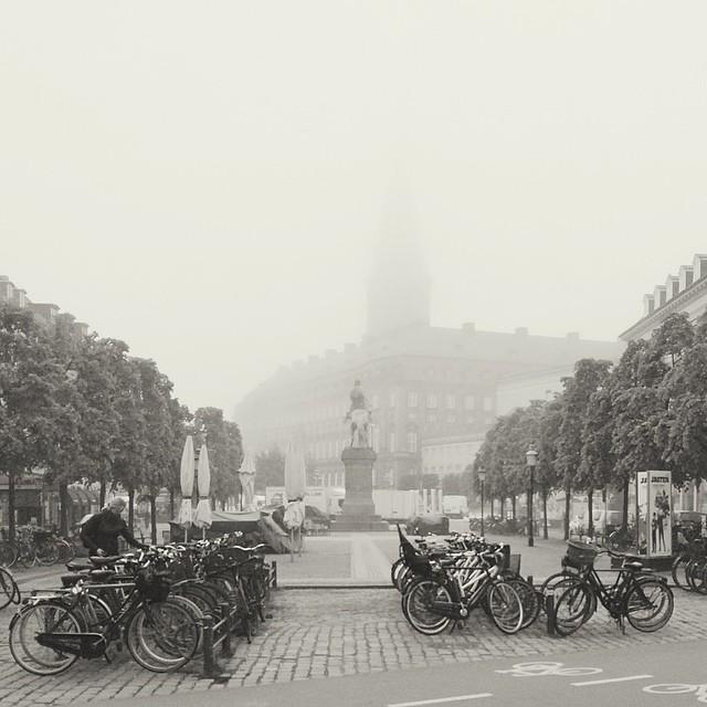 #vscocam #misty morning in #copenhagen - #christiansborg