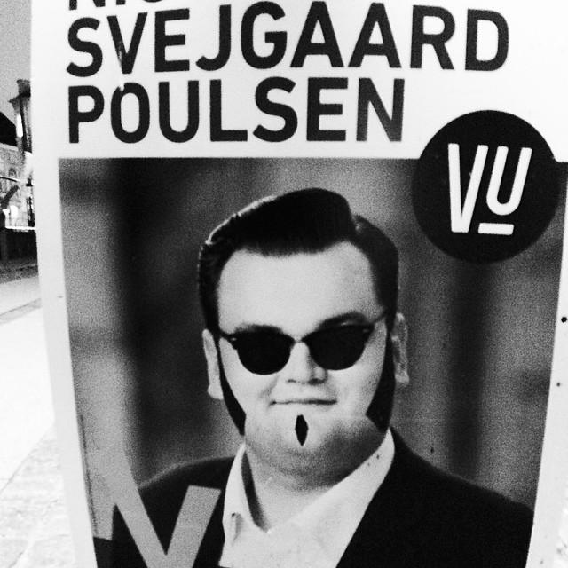 A cool and crazy guy for #euroelections #copenhagen #denmark