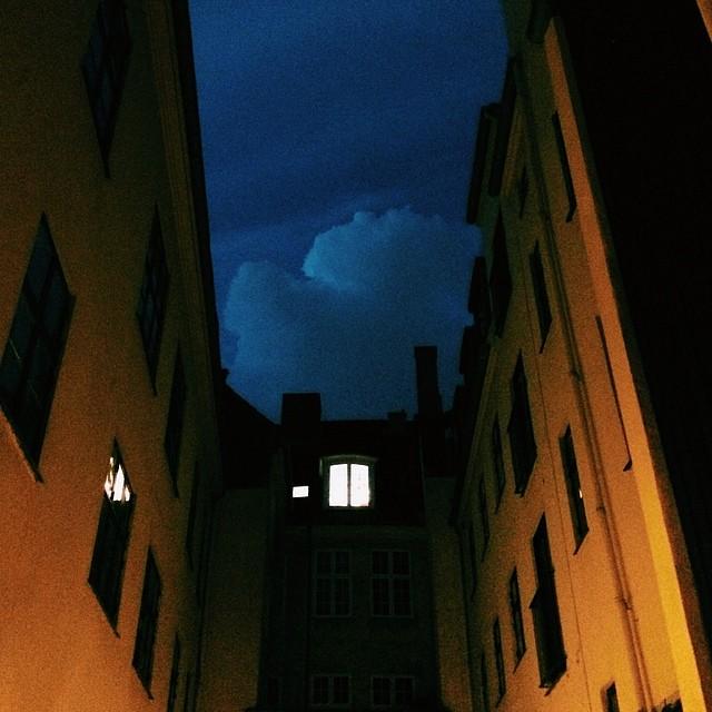 Amazing looking #clouds #tonight over #copenhagen #vscocam