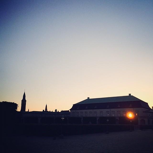 The #sunset peaking through the #royalstables #christiansborg #copenhagen