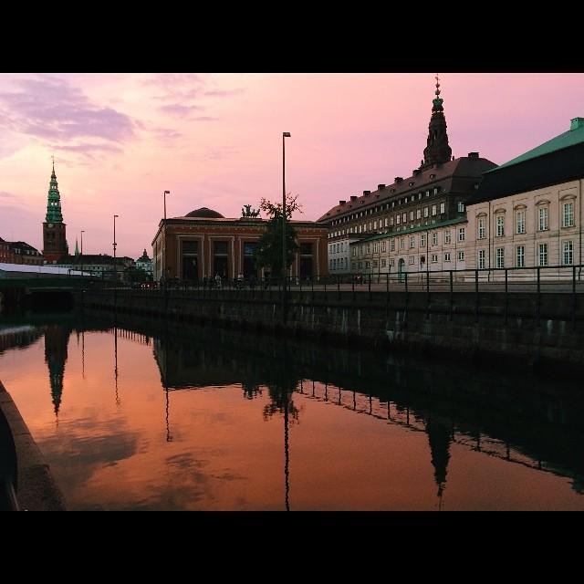 Last one #christiansborg #copenhagen #sunset #summer #vscocam
