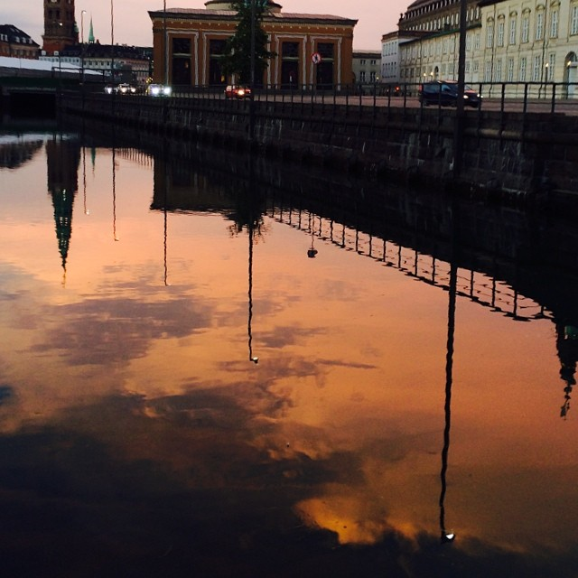 #summer #sky over #copenhagen #reflections in #canal