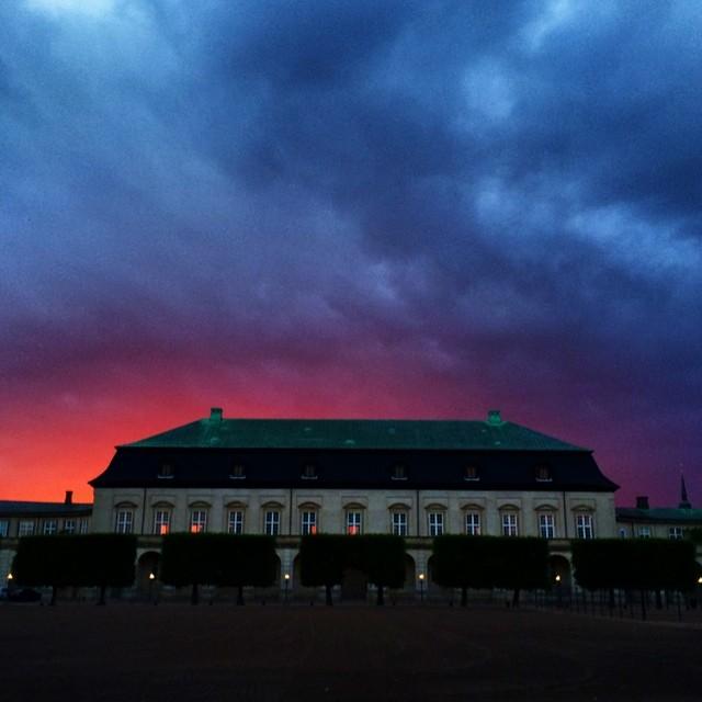 #royalstables #christiansborg #copenhagen - #sunset #sky #colours #clouds #vscocam