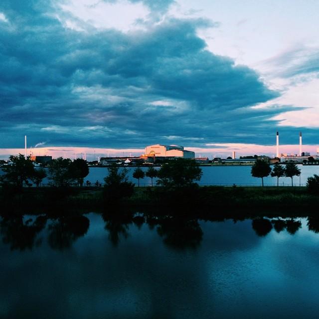 #copenhagen #docks #sunset and 'picturesque' power station #vscocam