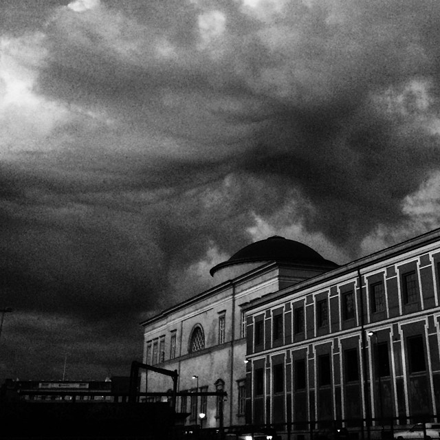 #ghostbuster moment over #copenhagen - #ominous #sky #clouds #supernatural things must be afoot - #blackandwhite #vscocam
