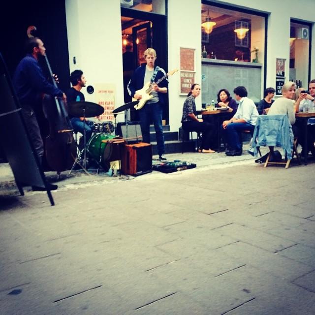 View from our front door - #copenhagen #jazz #cphjazzfestival in full effect #music