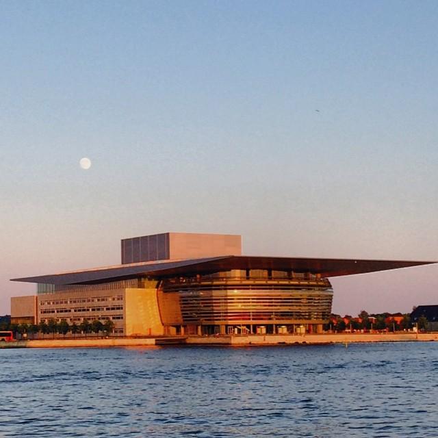 #moon over the #operahouse #copenhagen #summer