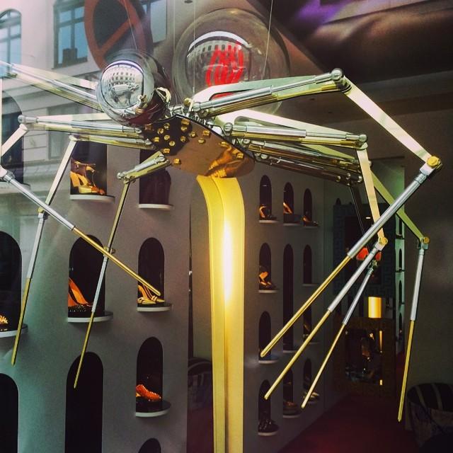 #steampunk #spider in #Louboutin #Copenhagen #shopart